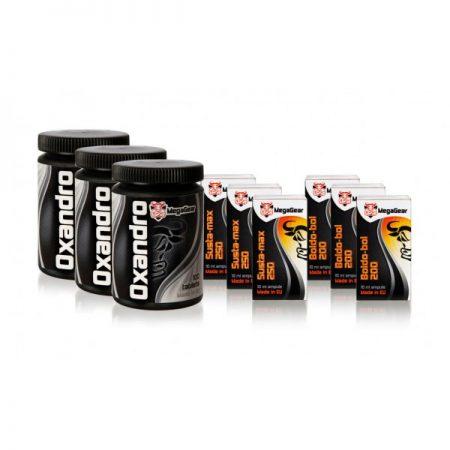 стак за начинащи включва Oxandro, Boldobol 200, Susta-max 250, професионални хранителни добавки ксеноандрогени от Mega Gear България